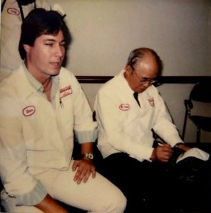 Steve with Mr. Soichiro Honda circa 1988.