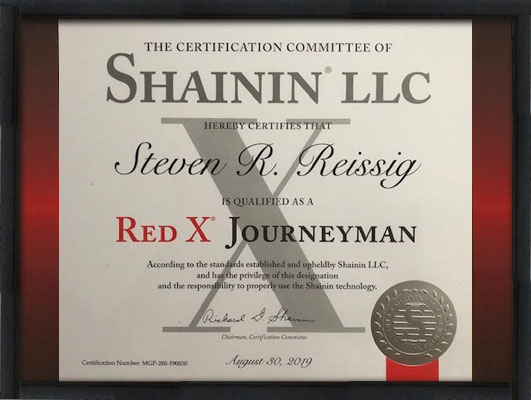 Steve Reissig, Lean training certification